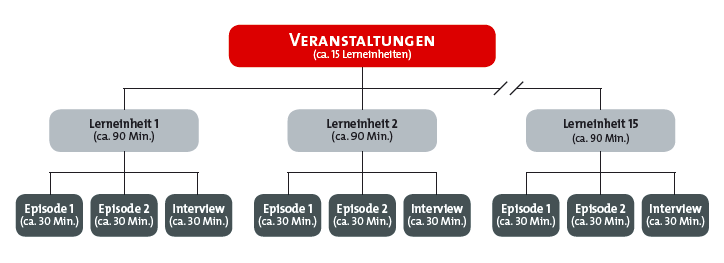 Abbildung 2: Aufbau der videobasierten Lehrveranstaltungen