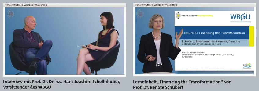 Abbildung 3: Beispiel für eine Vortragsepisode und ein Interview