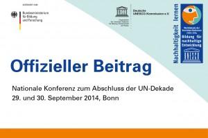 Offizieller Beitrag |Nationale Konferenz zum Abschluss der UN-Dekade