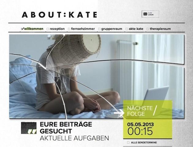 """""""About Kate"""" (seit 2013, Ulmen Television GmbH), eine crossmediale deutsch-französische Fernsehserie"""